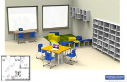 Vista di un aula tre punto zero - didattica innovativa